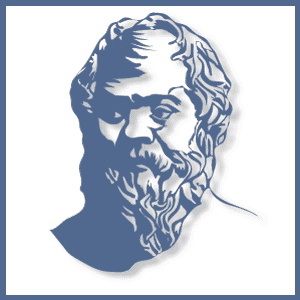 Dare to Know Authors logo drawing of bust of Socrates