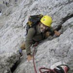 Photo of Fred Schenkelberg Rock Climbing, Dolomites, Italy 2007