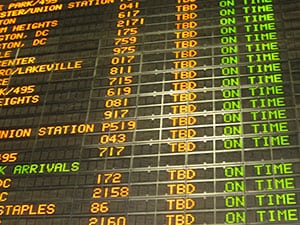 airline schedule board