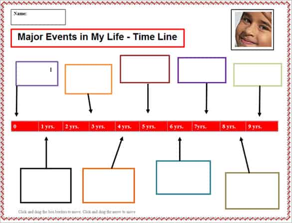 how to make a timeline of events