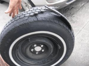 delaminated tire